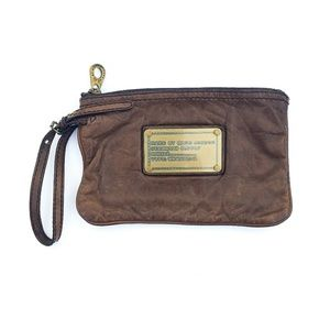 Marc Jacobs leather bag wristlet clutch purse